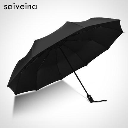 Ô dù cầm tay Hongkong cao cấp tự động Black 116cm